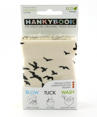 HankyBook Original 3-Set - Paisley, Birds and Bikes